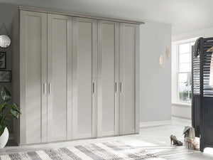 instrument CAMBRIDGE hinged door wardrobe 250cm [off white] - INSTRUMENT FURNITURE