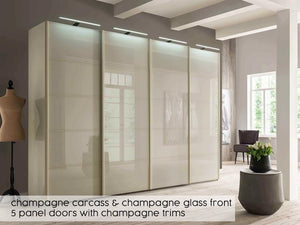 instrument Cali sliding wardrobe with synchro doors 330cm [Champagne] - INSTRUMENT FURNITURE