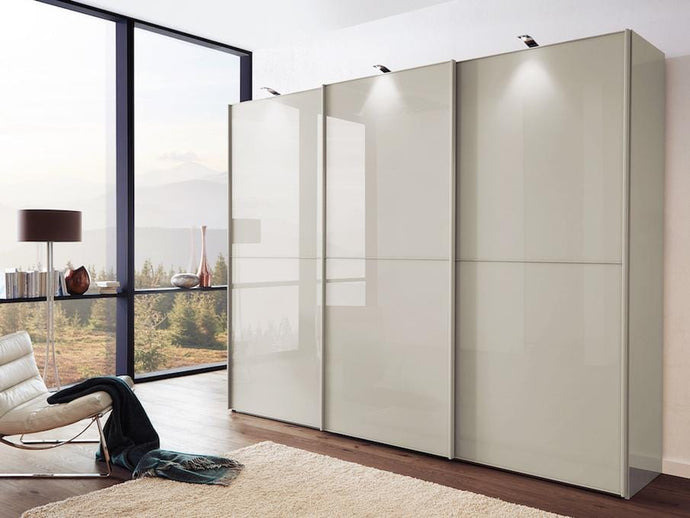 instrument Cali sliding mirror wardrobe 280cm [Champagne] - INSTRUMENT FURNITURE