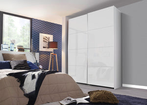 instrument Tate-2 sliding wardrobe 181cm [Glass Crystal White] - INSTRUMENT FURNITURE