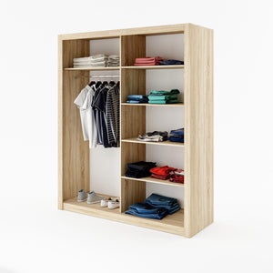 instrument CLEO 32 wardrobe 180cm [shetland oak] - INSTRUMENT FURNITURE