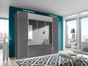 instrument Ipanema hinged wardrobe with drawers 250cm [Havana finish] - INSTRUMENT FURNITURE