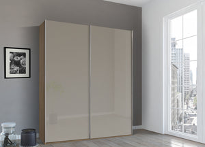 instrument Bronx sliding wardrobe 181cm [Fango Glass] - INSTRUMENT FURNITURE