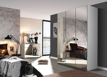 instrument Tate-3 hinged wardrobe 151cm [Glass Silk Grey] - INSTRUMENT FURNITURE