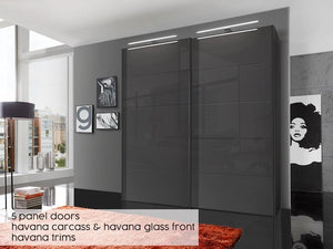 instrument Cali sliding mirror wardrobe 150cm [Pebble Grey] - INSTRUMENT FURNITURE