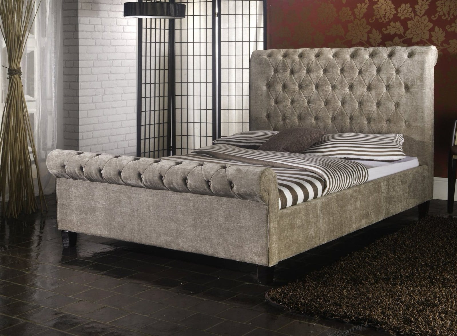 ... Instrument ISEO Mink Velvet Bed Frame   INSTRUMENT FURNITURE ...