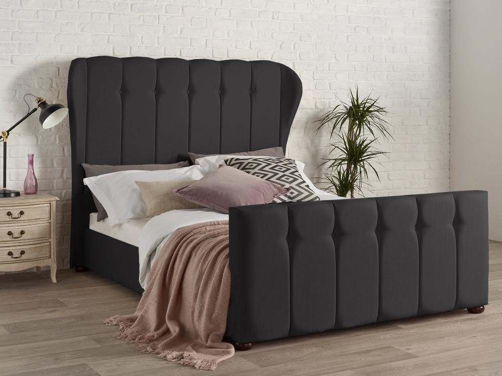 instrument PAVIN bed frame [Ebony] - INSTRUMENT FURNITURE