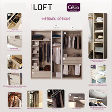 instrument LOFT wardrobe 160cm [Clay finish] - INSTRUMENT FURNITURE