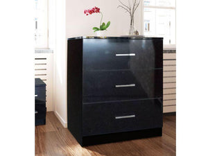 instrument Lenox 255cm bedroom set [black gloss] - INSTRUMENT FURNITURE