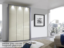 instrument Rosario bi-folding door wardrobe 150cm [Magnolia] - INSTRUMENT FURNITURE