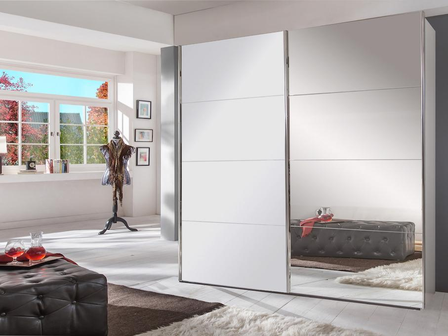 instrument MASON 13 sliding mirror wardrobe 225cm [white matt] - INSTRUMENT FURNITURE