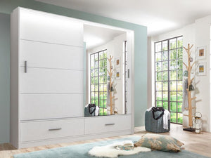 instrument LENOX mirror wardrobe 208cm [white matt] - INSTRUMENT FURNITURE