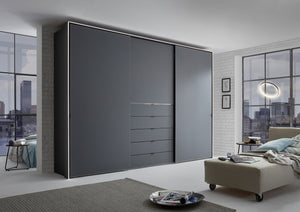 instrument Versa sliding wardrobe 249cm [volcano glass] - INSTRUMENT FURNITURE