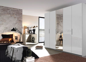 instrument Tate-3 hinged wardrobe 251cm [Glass Silk Grey] - INSTRUMENT FURNITURE