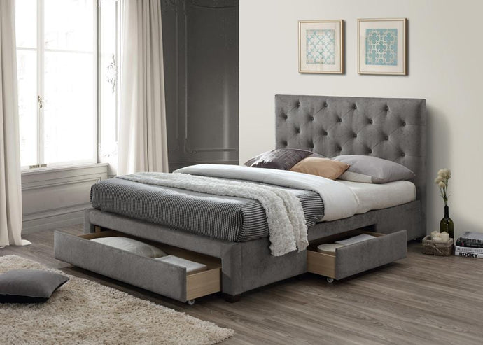instrument LESINA grey marl bed with 3 drawers - INSTRUMENT FURNITURE