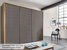 instrument Enzo sliding wardrobe 258cm [Havana Glass] - INSTRUMENT FURNITURE