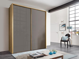 instrument Enzo sliding wardrobe 208cm [Havana Glass] - INSTRUMENT FURNITURE