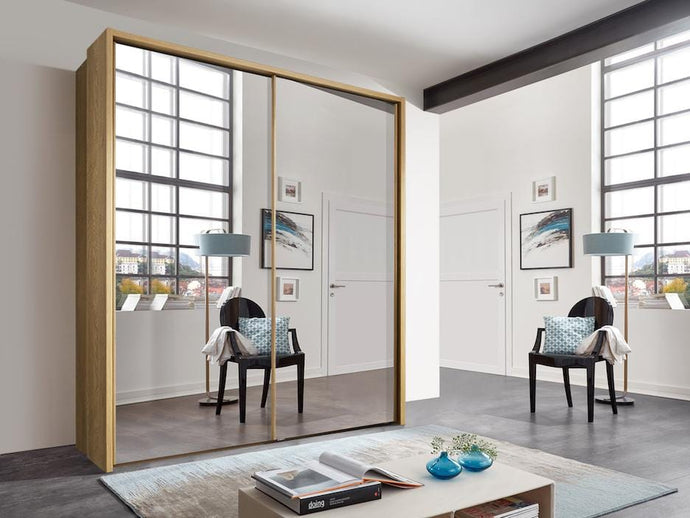 instrument Enzo sliding wardrobe 208cm [Full Mirror] - INSTRUMENT FURNITURE