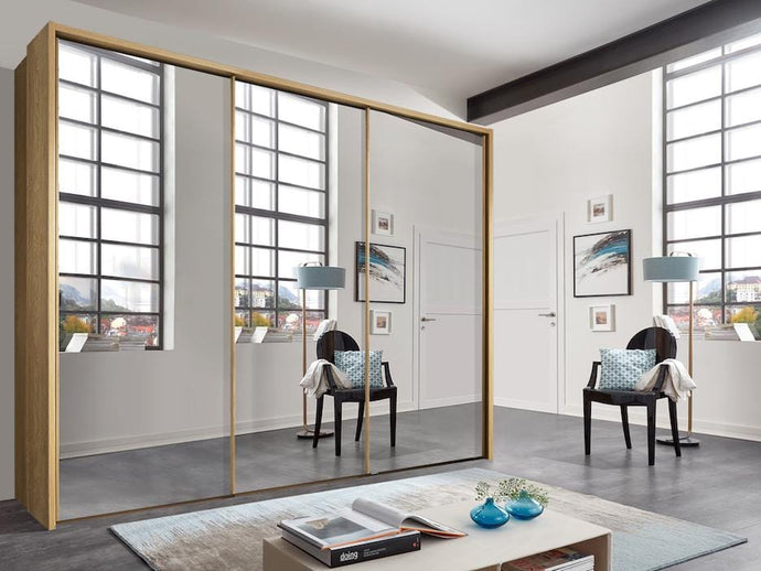 instrument Enzo sliding wardrobe 258cm [Full Mirror] - INSTRUMENT FURNITURE
