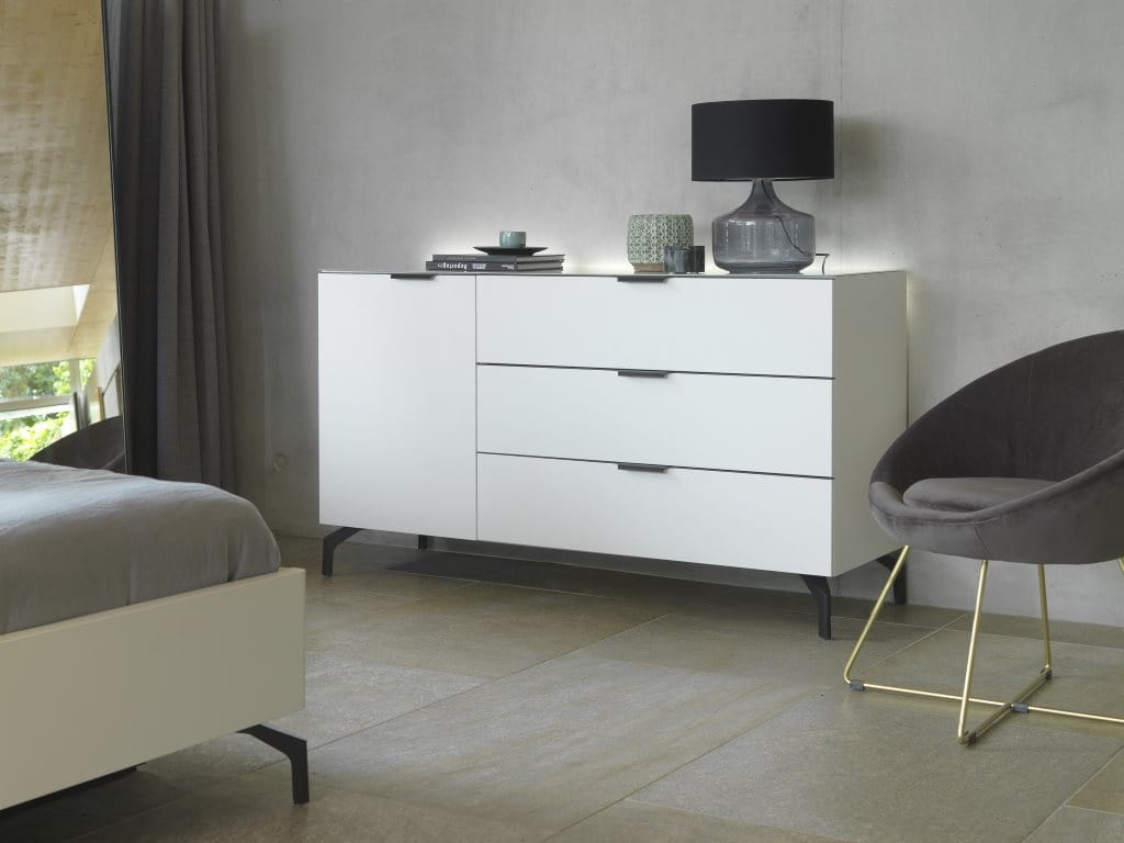 Instrument Perla Combined Chest Of Drawers With Glass Top