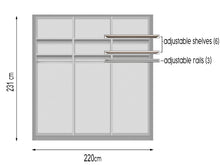 instrument PERLA sliding wardrobe 220cm [Cashmere] - INSTRUMENT FURNITURE