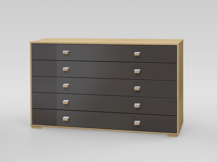 instrument Enzo sideboard with 5 drawers [Multicolour] - INSTRUMENT FURNITURE