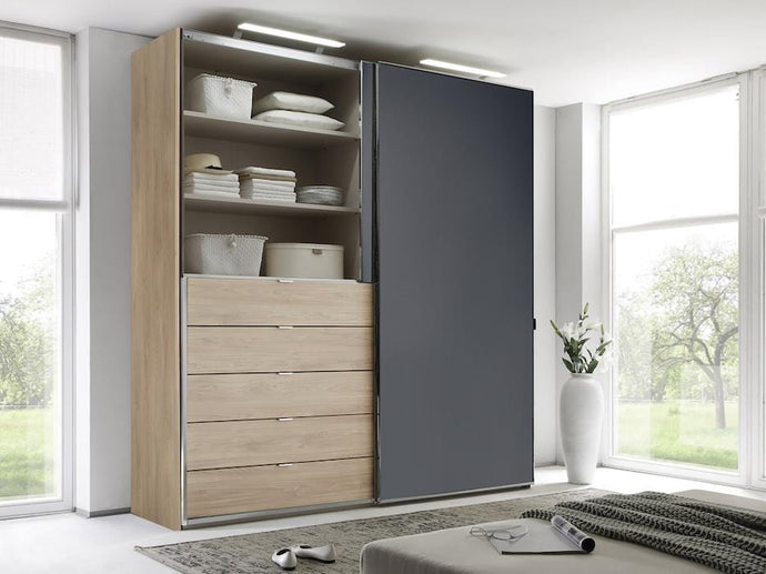 instrument Versa sliding wardrobe 225cm [volcano glass] - INSTRUMENT FURNITURE