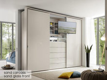 instrument Versa sliding wardrobe 336cm [volcano glass] - INSTRUMENT FURNITURE