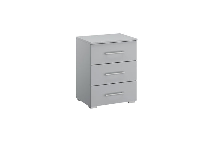instrument Helix bedside table 47cm [Matt Silk Grey] - INSTRUMENT FURNITURE