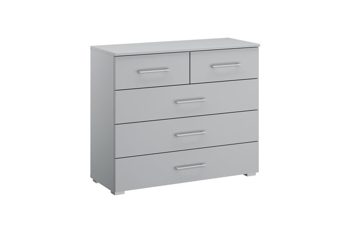 instrument Helix chest of 5 drawers 94cm [Matt Silk Grey] - INSTRUMENT FURNITURE