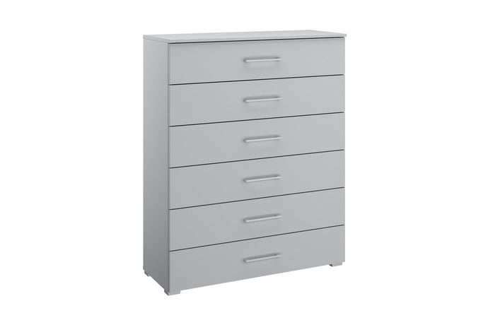 instrument Helix chest of 6 drawers 94cm [Matt Silk Grey] - INSTRUMENT FURNITURE