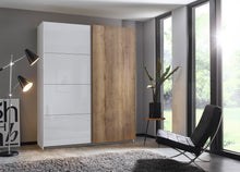 instrument Helix sliding wardrobe 181cm [Glass Silk Grey] - INSTRUMENT FURNITURE