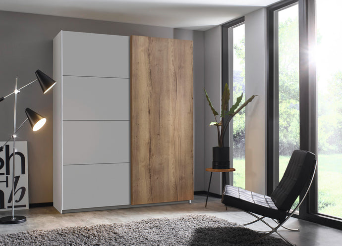instrument Helix sliding wardrobe 181cm [Matt Silk Grey] - INSTRUMENT FURNITURE
