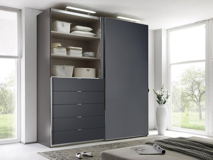 instrument Versa sliding wardrobe 188cm [volcano glass] - INSTRUMENT FURNITURE
