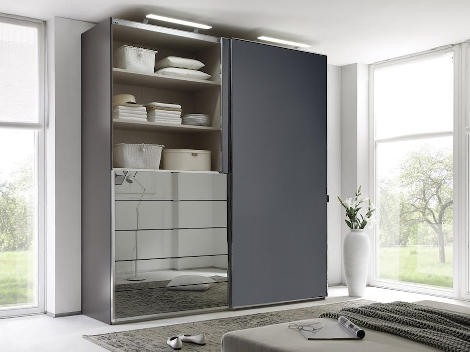 instrument Versa sliding wardrobe 167cm [volcano glass] - INSTRUMENT FURNITURE