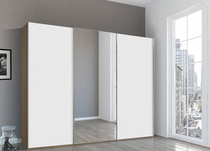 instrument Bronx sliding wardrobe 271cm [White] - INSTRUMENT FURNITURE