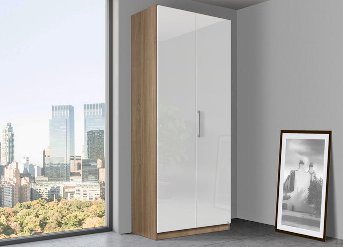 instrument Bronx hinged wardrobe 91cm [White] - INSTRUMENT FURNITURE