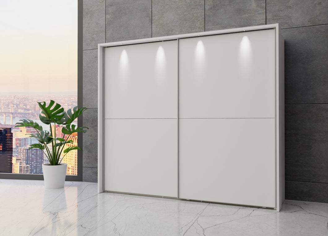 instrument Maestro sliding wardrobe 250cm [Matt White] - INSTRUMENT FURNITURE