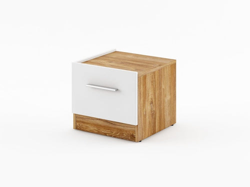 instrument CALISTO bedside tables - pair [white and oak] - INSTRUMENT FURNITURE