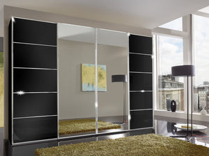 instrument Cali sliding wardrobe with synchro doors 330cm [Black] - INSTRUMENT FURNITURE