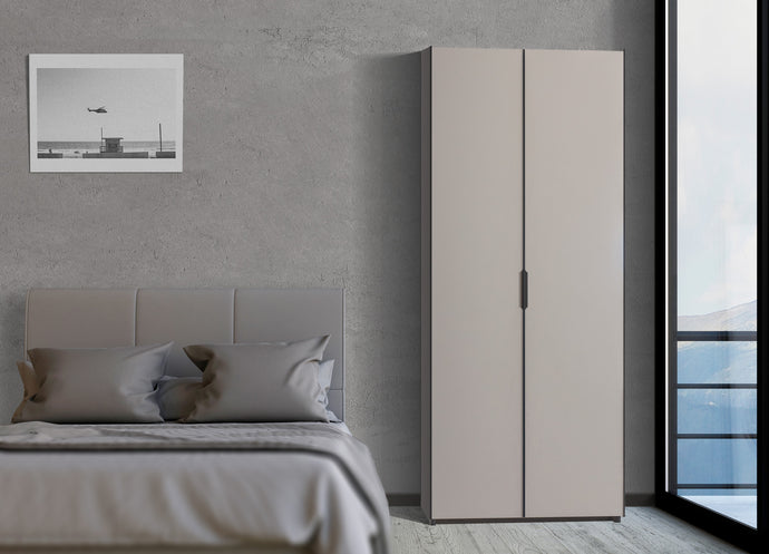 instrument PERLA hinged door wardrobe 100cm [Cashmere] - INSTRUMENT FURNITURE