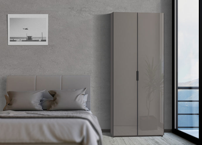 instrument PERLA hinged door wardrobe 120cm [Cashmere] - INSTRUMENT FURNITURE