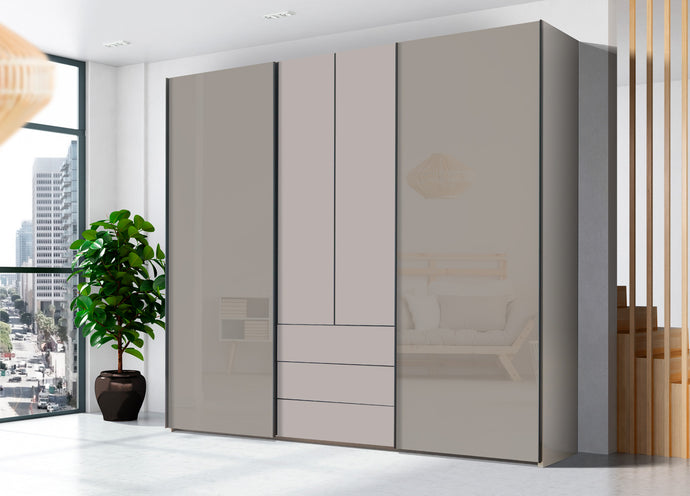 instrument PERLA combi wardrobe 240cm [Cashmere] - INSTRUMENT FURNITURE