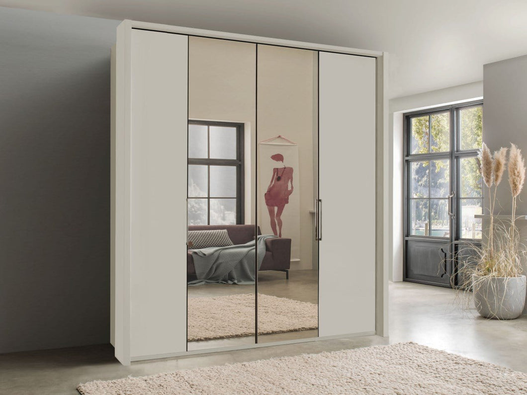 instrument FREYA bi-folding door wardrobe 150cm [champagne] - INSTRUMENT FURNITURE