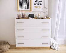 instrument CALISTO chest of drawers [white and oak finish] - INSTRUMENT FURNITURE