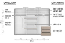 instrument CLEO 1 mirror wardrobe 250cm [white matt] - INSTRUMENT FURNITURE