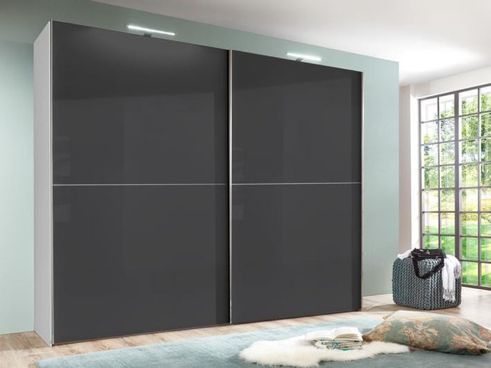instrument COCO wardrobe 244cm [black gloss] - INSTRUMENT FURNITURE