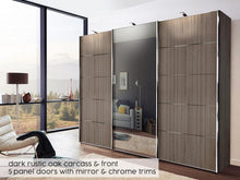 instrument Cali sliding mirror wardrobe 300cm [Pebble Grey] - INSTRUMENT FURNITURE