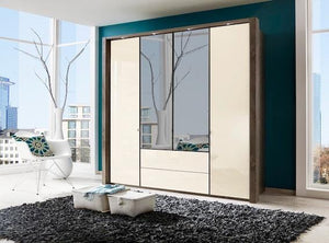 instrument Ipanema hinged wardrobe with drawers 200cm [Magnolia] - INSTRUMENT FURNITURE