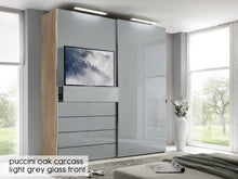 instrument Versa sliding wardrobe 188cm [alpine white glass] - INSTRUMENT FURNITURE